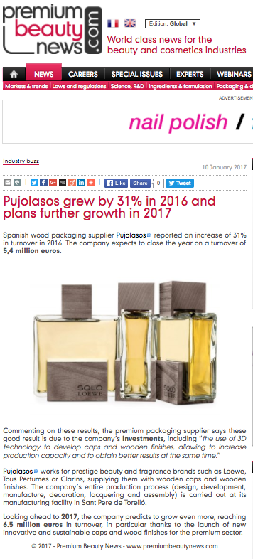 Pujolasos grew by 31% in 2016 and plans further growth in 2017