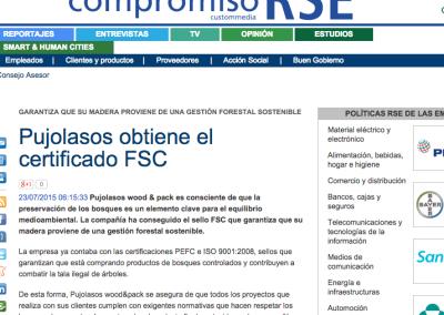 Pujolasos obtiene el certificado FSC Compromiso RSE 230715