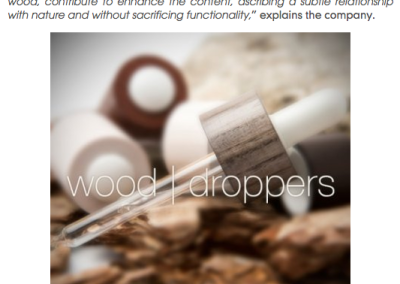 A range of luxury wooden droppers Beautynews mayo 2015