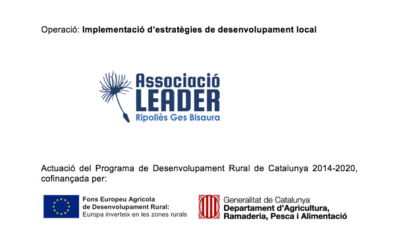 Pujolasos receives a subsidy co-financed by the European Fund and the Generalitat of Catalonia.