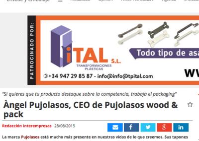Àngel Pujolasos, CEO de Pujolasos wood&pack Interempresas 080815