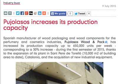 Pujolasos increases its production capacity Premiumbeautynews 090715